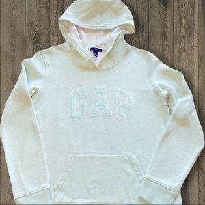 GAP Classic Seafoam Green Hoodie Girls Medium